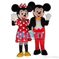Wholesale New Mouse Couple minnie and mickey Mascot costume Adult Size Mouse