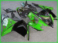 best motorcycle fairings - 3 Free gifts New ABS motorcycle Fairing set for kawasaki Ninja ZX R Ninja ZX R ZX10R bodywork black green best
