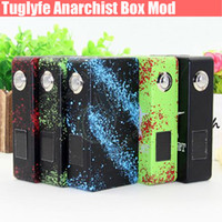 aluminum dual battery box - Newest Anarchist Box Mod V2 Tuglyfe Unregulated Splatter Aluminum Dual Battery OLED Display Mechanical Vapor Mods e cigs cigarette DHL