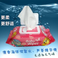 Wholesale 100 Count with cover cleaning wet wipes