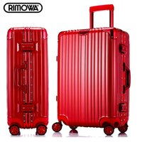 aluminum cas - 26 inch rimowa style aluminum frame angle drawbars hook up rolling carry on luggage suitcase universal casters trolley bags travel cas