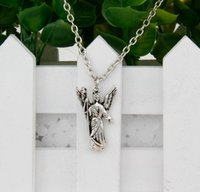 antique cane - Brand New Hot Antique Silver Angel Cane Charm Amulet Pendant Clavicle Short Necklace Jewelry Findings Friendship Gift