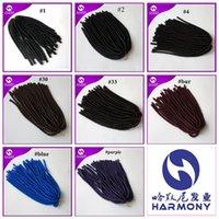 El miedo sintético suave del pelo del ganchillo del pelo de la torcedura de Dreadlocks del envío 18inch 110gram bloquea la armadura 8 colores disponibles