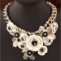 big chunky necklaces cheap - SBY0469 Fashion Elegent chain Chokers chunky big statement Chunky flower Short necklaces Cheap necklac High Quality necklace dolphin