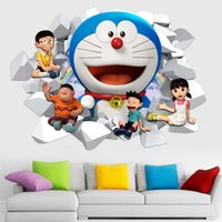 Wholesale Cartoon Doraemon doraemon D wall stickers waterproof sitting room children bedroom wall stickers can be removed