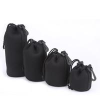 Wholesale Single lens Reflex Camera Lens Protective Waterproof Neoprene Soft And Flexible Pouch Case Bag S M L XL Size