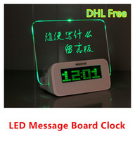 Wholesale Highstar Creative LED Fluorescent Message Board Digital Alarm Clock Calendar With Port USB Hub and Highlighter Retail Package