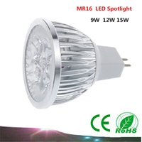 Wholesale 1PCS High power Led Lamp MR16 W W W Dimmable MR16 V Led Bulb Spotlight led bulb downlight lighting