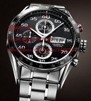 eta swiss movement - Luxury High Quality Brand Classic Series Calibre Steel Leather Bands Swiss ETA Movement Chronograph Mens Watch Watches