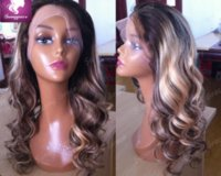 baby highlights - b highlight glueless lace front wig full lace wig Body Wave Peruvian ombre wigs with baby hair for african american