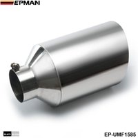 Wholesale EPMAN SILVER Universal End Tip Pipe Cover Exhaust Muffler Pipe Steel in O D Angled Rolled End in inlet in length EP UMF1585 SL