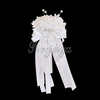artificial flowes - White Wedding Flowers Bridal Bouquet with Rhinestone Artificial Rose Flowes Wedding Bouquet for Wedding Favors Decorations