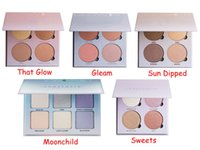 Wholesale Glow Kit Metallic Powder Bronzers Highlighters Glow Face Makeup Bronzers Highlighter Powder Palette That Glow Gleam Sun Dipped Sweets