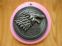 badge mold - A Song of Ice and Fire Game of Thrones badge silicone fondant cake mold silicone chocolate mold soap candles tool
