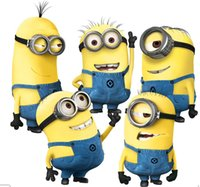 Wholesale Cartoon Despicable Me Minions Wall Stickers for Kids Room Baby Wall Decal Home Decoration Wall Paper Art Lego Movie Poster