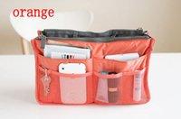 Wholesale 2016 Colors Christmas Women Lady Travel makeup bag Insert Handbag Purse Large liner Tote Organizer Dual Storage Amazing make up bags