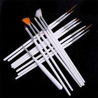 Wholesale 15pcs set Art Design Painting Tool Pen Polish Brush Set Kit Professional Nail Brushes Styling Nail Art tools