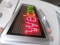 led programmable display board - 3 Color Programmable LED Message Sign Scroll Moving Display x64 dot Desk board desk office board