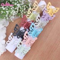 Wholesale Butterfly Paper Napkin Rings for Wedding Decoration Party Supplies Dinner Banquet Table Decoration Accessories