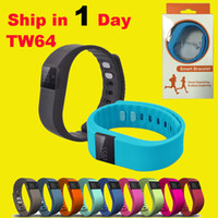 Wholesale TW64 Smart Bracelet Bluetooth Smart Wristbands smart watch Waterproof Passometer Sleep Tracker Function for android ios pk fitbit OTH048