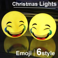 bamboo lamp table - emoji emoticon doll christmas lights DN cm PVC Small table lamp Nightlight LED Creative Lights Pseudo touch switch Christmas Lights toys