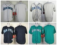football jersey blank - Cheap Seattle Mariners Blank Mens Baseball Jerseys Grey White Navy Green Embroidery MLB Athletic Shirt Cool Base Football Jersey M XXXL