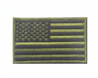 army patches - Army Green America Flag Patch Embroidery Tactical Hook And Loop Patches Cloth Military Morale Armband Fabric Combat Badge