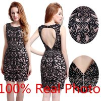 amazing embroidery designs - Real Photo New Design Amazing Detail Short Prom Party Cocktail Dresses Keyhole Back Sparkly Mini Max Dress Evening Gown Wear