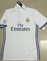 Wholesale A Thai quality Real Madrid home white soccer Jerseys Real Madrid RONALDO SERGIO RAMOS BALE Football Shirts