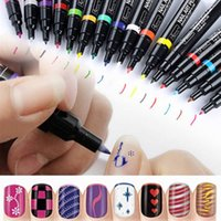 Wholesale Nail Art Delica Pen Painting Design Drawing UV Gel Polish Manicure Tool Colors