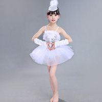 Wholesale White Swan Lake Dance Dress Classical Professional Ballet Tutu Dancewear Girls Stage Performance Costumes Ballet Dress UA0181 kevinstyle