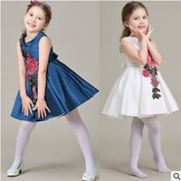 Wholesale New Kids Girl Summer Pincess Pincess Dress Children Clothing Pinting Dress Girl New Arrival Casual Pincess Dress N9E38
