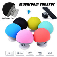 android angels - Mushroom Mini Wireless Bluetooth Speaker Hands Free Sucker Cup Audio Receiver Music Stereo Subwoofer USB For Android IOS PC