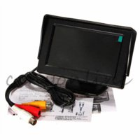 auto security monitor - 4 Inch Color TFT LCD Digital CCTV Car Auto Rearview Backup Security Pack Packing Monitor Screen Reverse Camera Kit DVD VCR GPS