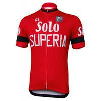Wholesale SOLO SUPERIA Bike Cycling Jersey Mens Men s Short Sleeve Cycling Jerseys Cycling Wear Cheap Clothes china