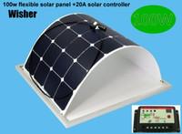 automobile sunroof - 100W flexible monocrystalline solar panel A solar controller for sunroof outdoor Diy RV Car Boat V battery