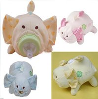Wholesale Cute Cartoon Baby Nursing Bottle Warmer Bag Infant Cloth Wide Caliber Feeding Bottle Isothermic bags