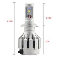 Wholesale 1pcs HL H7 Car Headlight Generation LED Car Headlight CR EE ETI Flip Chips V W LM LED Headlight High Low Beam Kit