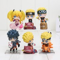 anime mini figures naruto - 6pcs set Anime Naruto Uzumaki Naruto Mini PVC Action Figures Collection Toys Children Doll Gift Collection Toys