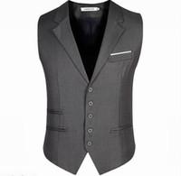 Wholesale 2017 New Arrival Men Vest Men s Fitted Leisure Waistcoat Casual Business Jacket Tops suit vest
