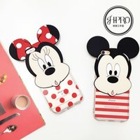 big head phones - Cute Disny Big Head Minnie And Mickey Couple Back Cover For iPhone S Phone Cases For iPhone Plus