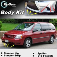 Wholesale For Ford Freestar Bumper Lip Lips Front Skirt Deflector Spoiler For Car Tuning The Stig Recommend Body Kit Strip