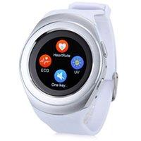 Wholesale LYW9 inch Round Screen Sma rtwatch Phone MTK6261 Pedometer Heart Rate Monitor Sleep Monitoring