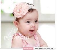 Venda del cordón del envío libre del bebé lindo blanco / rosa / naranja diadema Set 8pcs / lot poco vestido de bebé Hasta feliz Ascensor