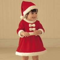 baby santa hat - Christmas Santa baby boys girls Romper red Rompers fleece romper dress hat