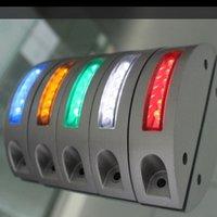 aluminum road studs - LED Solar Road Stud Traffic Safety Aluminum Highway Warning Alarm Lamp LED light SRS