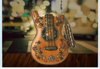beaded body - Hall of Fame Guitar Shape Handmade Novelty Bag Women Mini Messenger Bag Crossbody Bag with Beading and Stones and Tassels Decoration