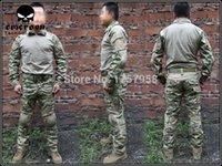 Wholesale Emerson Gen2 Combat Uniform Set Military Combat Shirt amp Pants with knee pad amp elbow pad Multicam EM2725