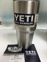 stainless steel double wall bottle - 304 Stainless Steel bottle oz Yeti cooler tumbler Cups Cooler Cup coffee mug Vehicle Beer Mug Double Wall Bilayer Vacuum Insulated ml