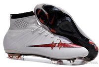 Wholesale Original mens BHM Magista Soccer shoes High Ankle Football Boots HERITAGE SuPERfly IV VI CR FG Mercurial CR7 cleats shoes Hypervenom